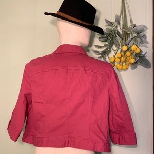 Faded reddish pink jean jacket
